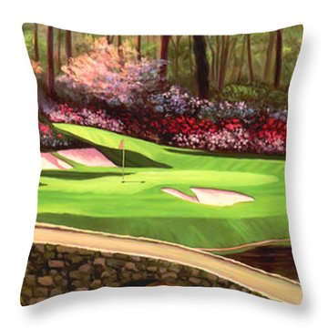 Augustas 12 Hole 28x9 Throw Pillow