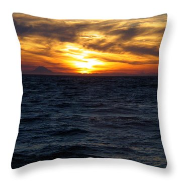 Throw Pillow featuring the photograph Augustine Sleeps by Jeremy Rhoades