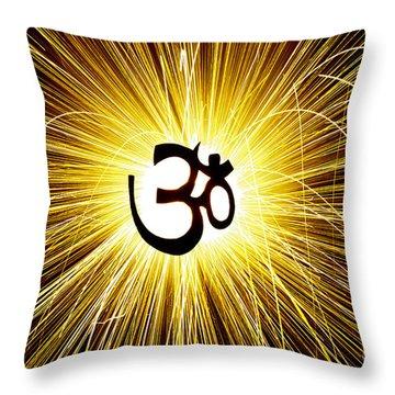 Aum Light Throw Pillow