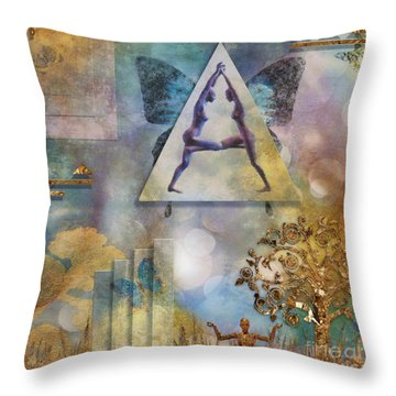 Throw Pillow featuring the digital art Aum by Nola Lee Kelsey
