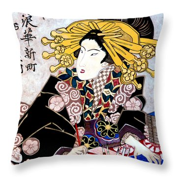 Aunt Annie Throw Pillow by Tom Roderick