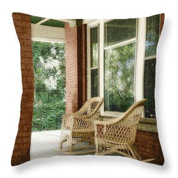 Aunt Jane's Porch Throw Pillow