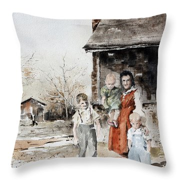 Aunt Peg Throw Pillow