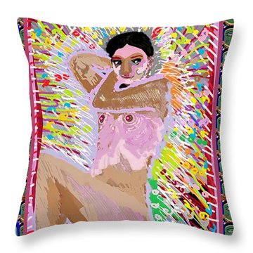 Aura Art Effect Of Love In Heart Showering Sparkle Colors Navin Joshi Rights Managed Images Graphic  Throw Pillow