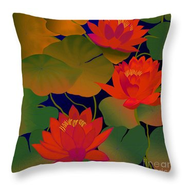 Aura Throw Pillow by Latha Gokuldas Panicker