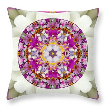 Throw Pillow featuring the photograph Aura Of Joy by Bell And Todd
