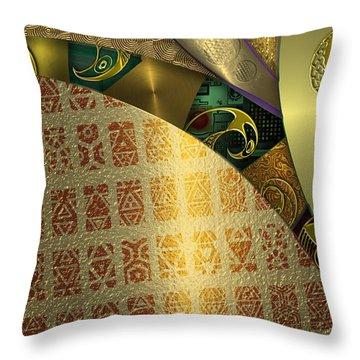 Auraglyphics Throw Pillow