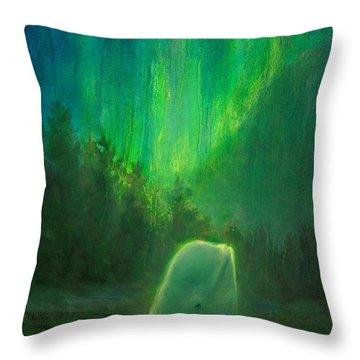 Aurora Beluga Throw Pillow