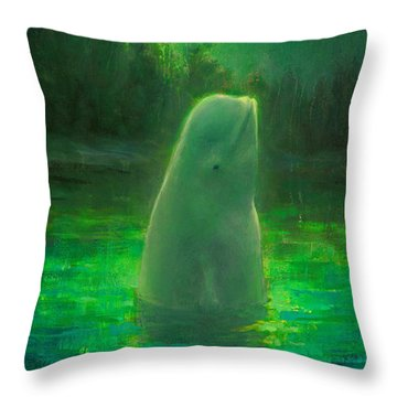 Aurora Beluga Throw Pillow