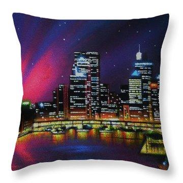 Aurora Borealis Over Quebec Throw Pillow