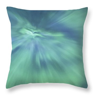Aurora Borealis Pastel Throw Pillow