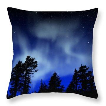 Aurora Borealis Wall Mural Throw Pillow