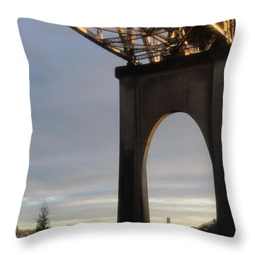 Aurora Bridge Seattle Washington  Throw Pillow