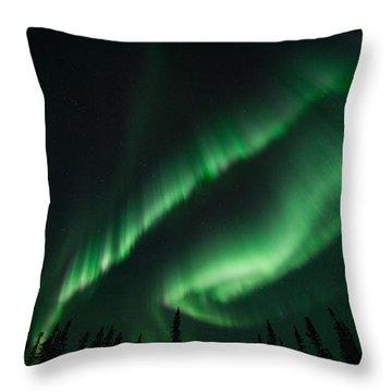 Aurora Curtain Throw Pillow