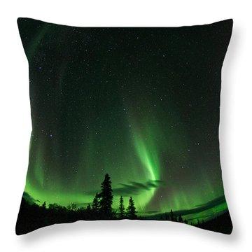 Aurora Embrace Throw Pillow