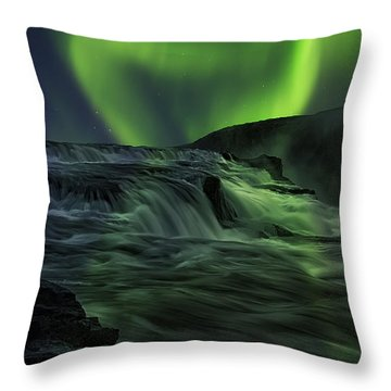 Aurora Falls Throw Pillow by Wade Aiken