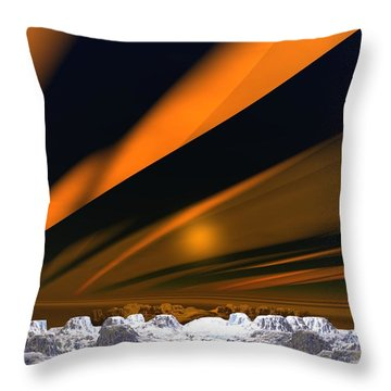 Aurora Throw Pillow by John Pangia