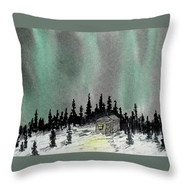 Aurora Magic - Dance Of The Lights Throw Pillow