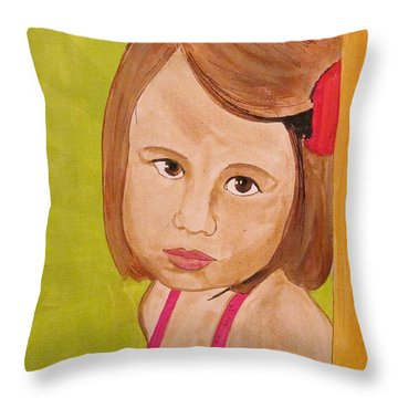 Throw Pillow featuring the painting Aurora by Michelle Dallocchio