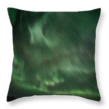 Aurora Storm In Chugiak Throw Pillow