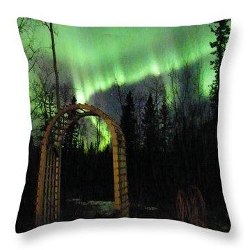 Auroral Arch Throw Pillow