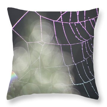 Throw Pillow featuring the photograph Aurora's Web by Cathie Douglas