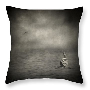 Ausencia Presencia Y Una Sirena Throw Pillow by Taylan Apukovska