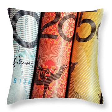 Aussie Dollars 02 Throw Pillow