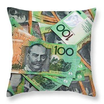 Aussie Dollars 04 Throw Pillow