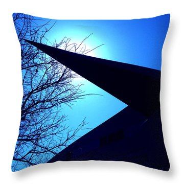 Austin City Hall Point Eclipse Throw Pillow