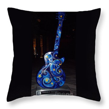 Austin City Limits Throw Pillow by John Telfer