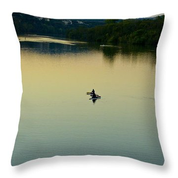 Austin Lady Bird Lake Throw Pillow