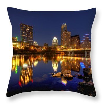 Throw Pillow featuring the photograph Austin On The Rocks by Dave Files