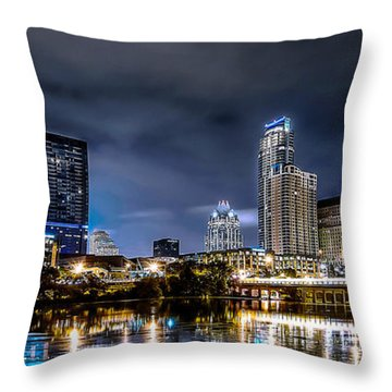 Austin Skyline Hdr Throw Pillow