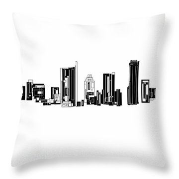 Austin Skyline II Throw Pillow by Sheep McTavish