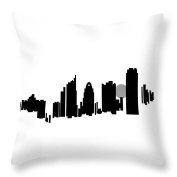 Austin Skyline Throw Pillow by Sheep McTavish