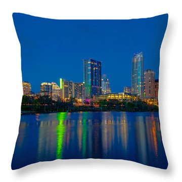Austin Skyline Throw Pillow by Tim Stanley