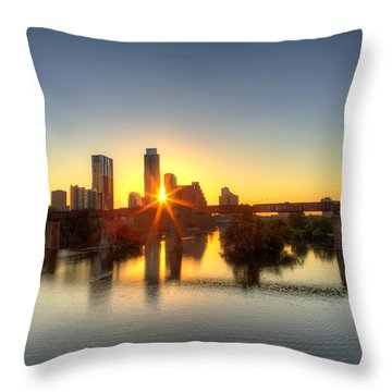 Austin Sunrise Throw Pillow by Dave Files
