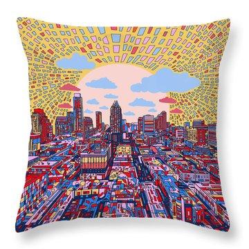 Austin Texas Abstract Panorama 2 Throw Pillow