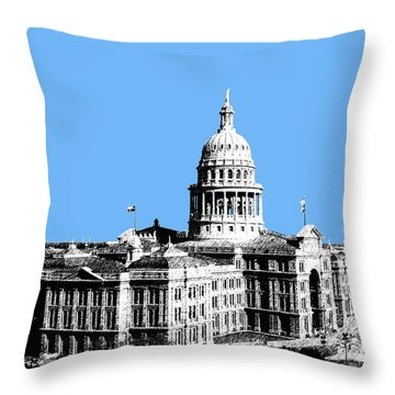 Austin Texas Capital - Sky Blue Throw Pillow by DB Artist
