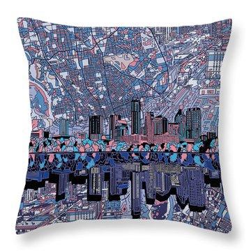 Austin Texas Skyline 3 Throw Pillow