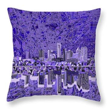 Austin Texas Skyline 4 Throw Pillow
