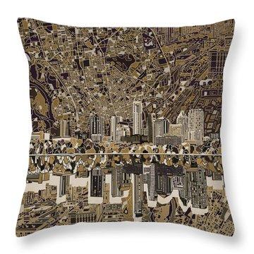 Austin Texas Skyline 5 Throw Pillow