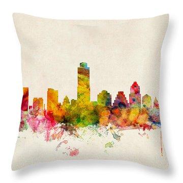 Austin Skyline Throw Pillows