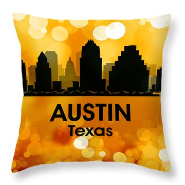 Austin Tx 3 Throw Pillow by Angelina Vick