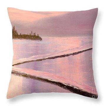 Austinmer Pool At Sunset Throw Pillow