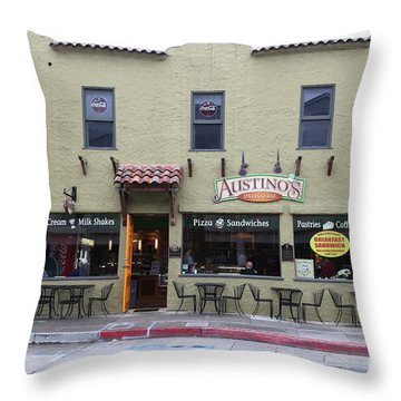 Austinos Patisserie On Monterey Cannery Row California 5d24760 Throw Pillow