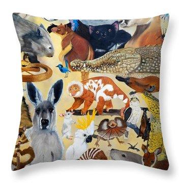 Australia Throw Pillow by Debbie LaFrance