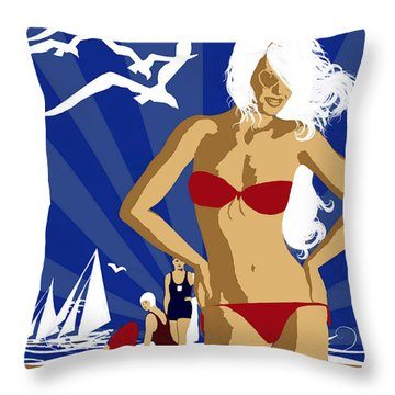 Australia Throw Pillow by Shanina Conway