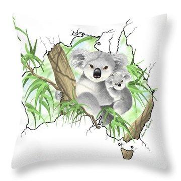 Australia Throw Pillow by Veronica Minozzi